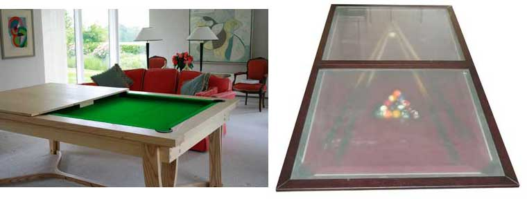 Pool Table With Dining Top On Modern Style