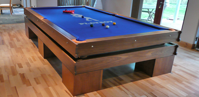 Walnut Snooker Table